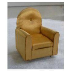 Ideal Petite Princess Gold Satin Guest Chair