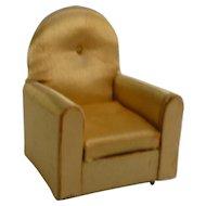 Ideal Petite Princess Gold Satin Guest Chair