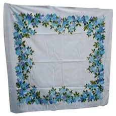 Fruit Tapestry Print Vintage Tablecloth Garden State Label