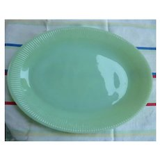 Fire King Jadeite Jane Ray Oval Platter