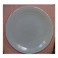 """Vintage Fiesta 50's Gray Chop Plate 13"""""""