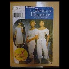 Civil War Martha McCain The Fashion Historian Simplicity 9769 Pattern Uncut