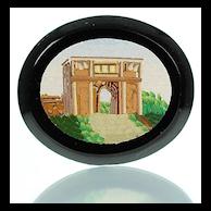Antique Grand Tour Micromosaic Plaque  Arch of Titus - Micro Mosaic