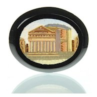 Antique Grand Tour Micromosaic Plaque Pantheon - Micro Mosaic