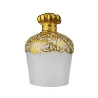 Antique French Palais Royal White Opaline Scent Bottle with Dore Bronze Mounts
