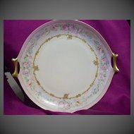Exquisite Hand Painted Bavaria Hutschenreuther Roses Charger Plate