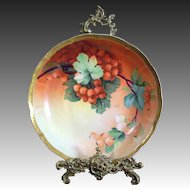 Spectacular Ginori Italy Hand Painted Berry Bowl,Artist Signed