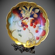 Pickard Studio Hand Painted Limoges Plate,Pickard Artist Signed