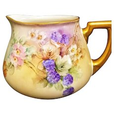 Limoges Hand Painted Blackberry Pitcher