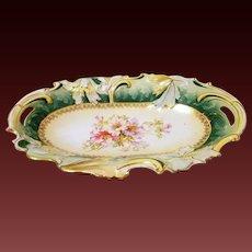 Large RS Prussia Bun Tray Dish Art Nouveau Style