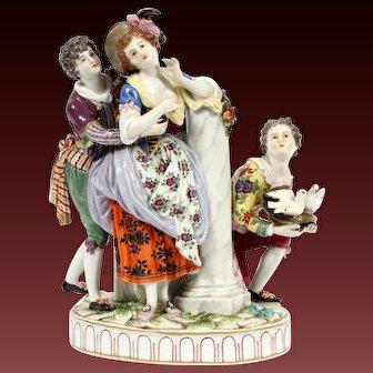 Large German Ludwigsburg  figurine Figure Group