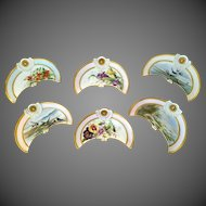 Limoges Hand Painted Bone or Oyster Dish Set,Artist Sigend and Dated