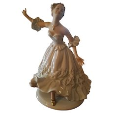 Large  German Schau Bach Kunst  Dancer Ballerina Figurine Figure