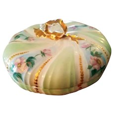 Limoges Hand Painted Rose Candy Dish