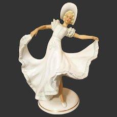 Large  German Schau Bach Kunst  Dancer Ballerina Figurine Figure