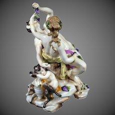 Antique Porcelain Figurine Figure Group Bacchus,  Ludwigsburg WPM Germany