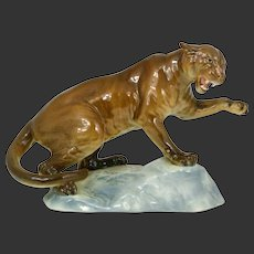 Antique Magnificent Beswick England Puma Panther Lion Figurine Figure