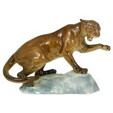 Antique Magnificent Beswick England Puma Panther Lion Figurine Figure