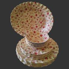 Vintage Spode Copeland England Dinner Plate/Platter/Cup/Creamer /Sugar/Bowl Service for 6, 35 Pieces