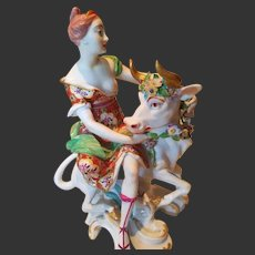 "Antique Chelsea-Derby Figural Group ""Europa and Bull"""