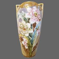 Nippon Hand Painted Rose Vase