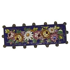 19TH Century Victorian Micro Mosaic Brooch/Pin