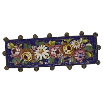 19TH Century Victorian Micro Mosaic Brooch/Pin