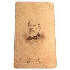 General Robert E.Lee. Signed carte de visite
