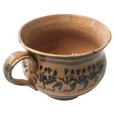 Early Mocha Ware Bean Pot