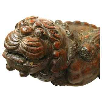 Bamboo-Root Foo Dog / Lion