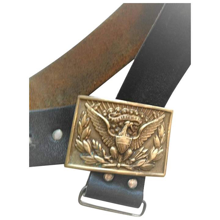 04d49205c11 American Eagle Military Brass Buckle and Belt   Colliston and Company