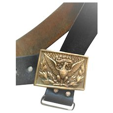 American Eagle Military Brass Buckle and Belt