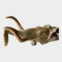 Drift wood carving of mastodon
