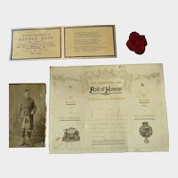 Remembrance collection for WW1 Scottish soldier.
