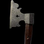 Late 19th cen decorative battle axe