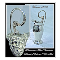 Spring SALE! Antique Austrian Silver Ewer Royal Provenance Vienna 1810