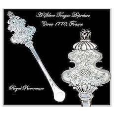 SPRING SALE! Rare Antique French Silver Tongue Depressor Circa 1770: Provenance