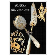 Paul Tallois: Antique French Sterling, Gold & Mother of Pearl Ice Cream Servers