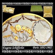 SCHIFFERLET: Sterling vermeil Dessert Set w Amazing Serving Dish and Original Box!