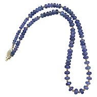 Lovely Tanzanite 14K Yellow Gold Necklace