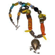 African Millefiori and Glass Trade Bead Necklace