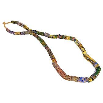 Huge Vintage Venetian Millefiori African Trade Beads