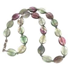 Beautiful Large Natural Fluorite Gemstone Necklace