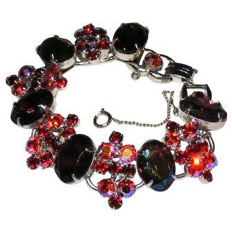Vintage Juliana D&E Rhinestone Link Bracelet