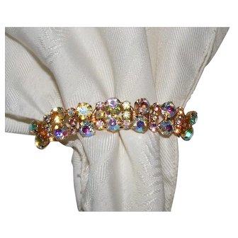 Vintage Juliana D&E AB Rhinestone Link Bracelet