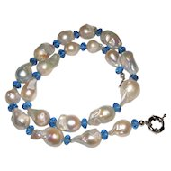 Gorgeous Large Nucleated Baroque Freshwater Pearl Necklace