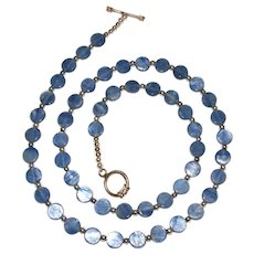 Lovely Sterling Silver and Kyanite Bead Necklace