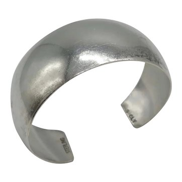 Navajo Sarah Cly Sterling Silver Smooth Cuff Bracelet