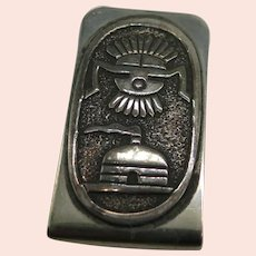 Vintage Sterling Silver Money Clip by Navajo Artisan Gibson Gene