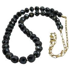 Beautiful Moissanite Black Diamond 14K Sterling Silver Vermeil Necklace